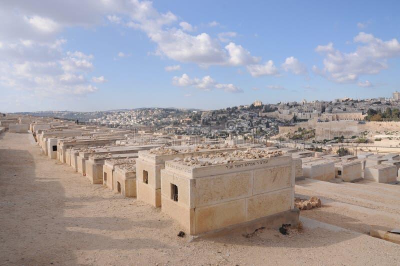 Joodse Begraafplaats in Israël stock afbeelding