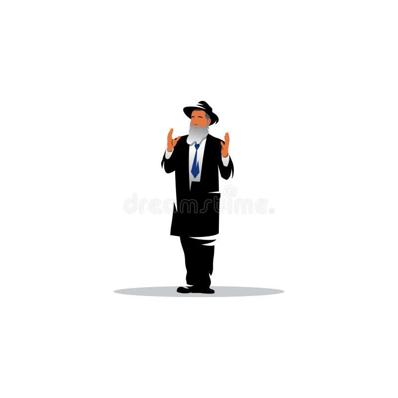Joodse mens jood Vector illustratie stock illustratie