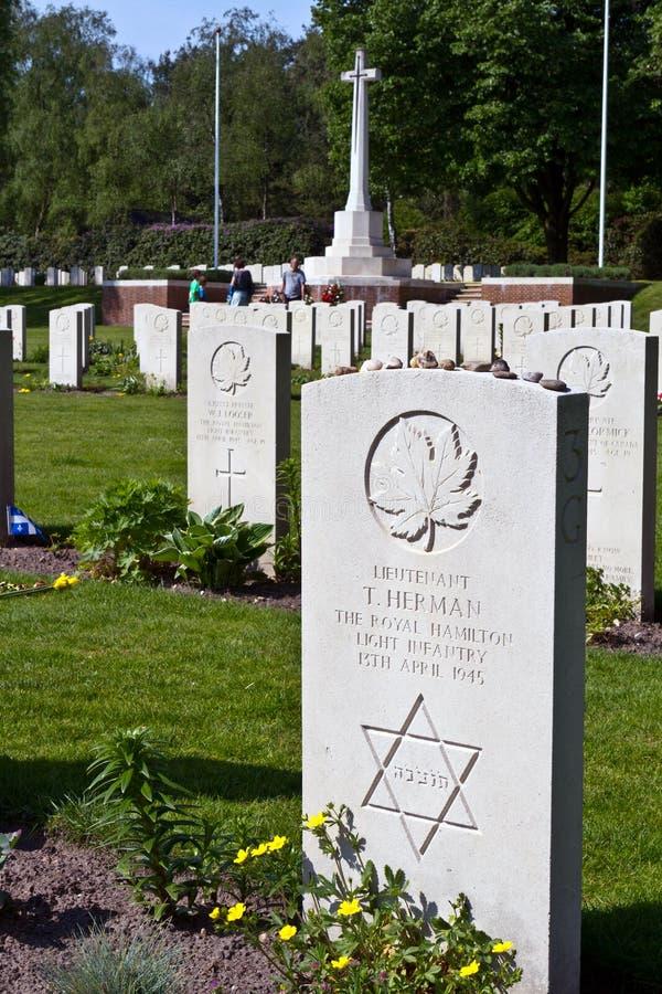 Joodse Oorlog van de Wereld Twee graf stock afbeelding