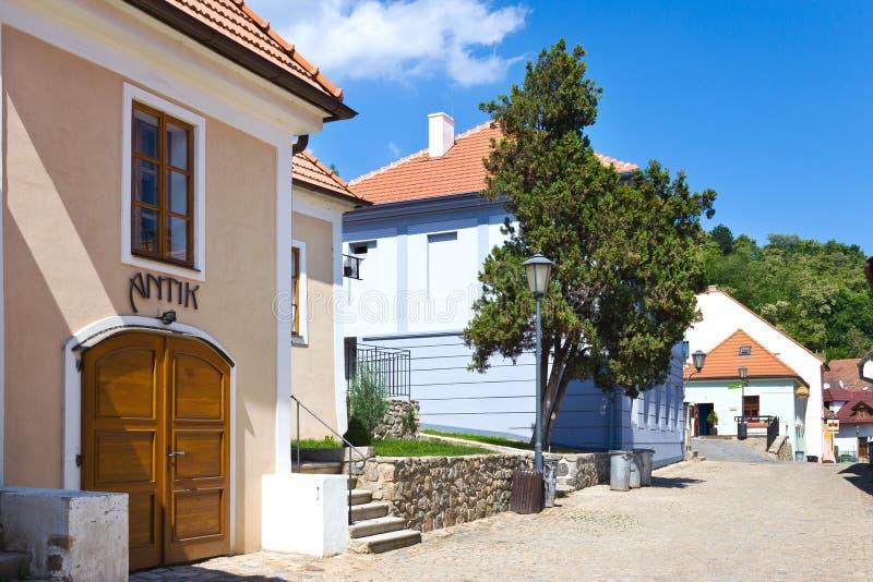 Joodse stad (Unesco), Trebic, Vysocina, Tsjechische republiek, Europa royalty-vrije stock foto