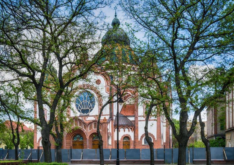 Joodse synagoge in Subotica-stad, Servië stock afbeeldingen