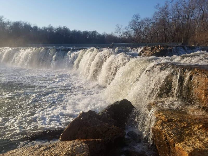 Joplin Missouri Christina Farino Waterfall in de Lente stock afbeeldingen