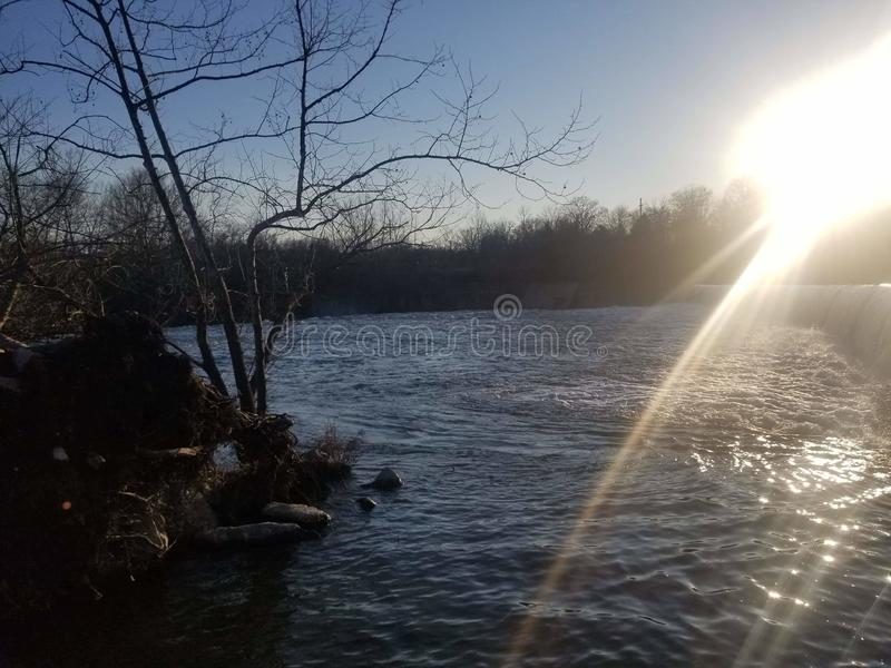 Joplin Missouri Christina Farino Waterfall en la primavera Joplin fotos de archivo libres de regalías