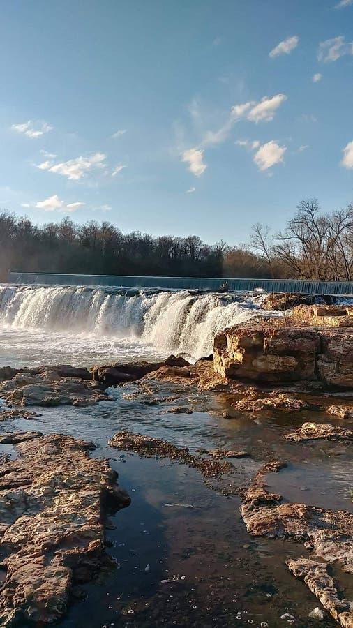 Joplin Missouri Christina Farino Waterfall en primavera foto de archivo libre de regalías
