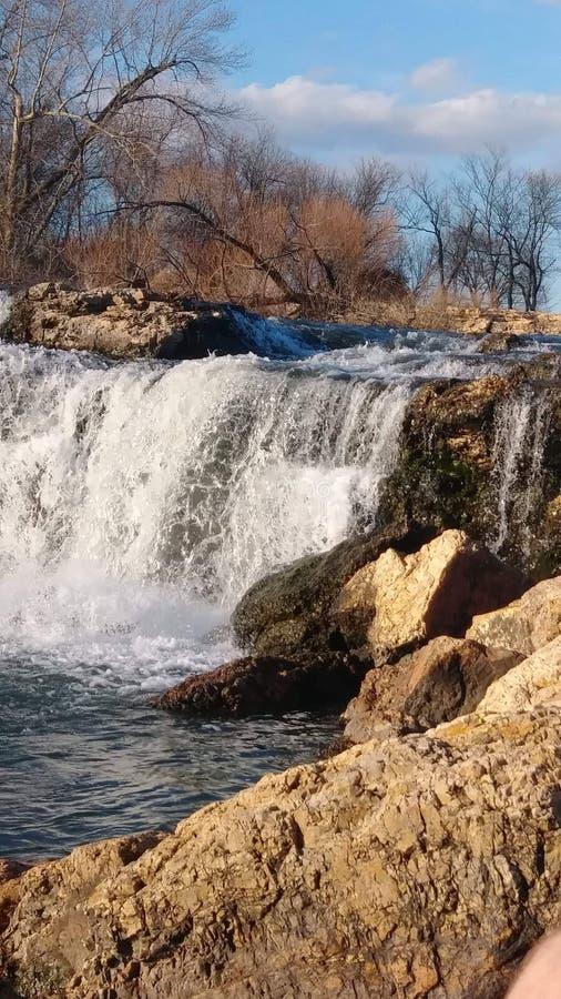 Joplin Missouri Christina Farino Waterfall en primavera imágenes de archivo libres de regalías