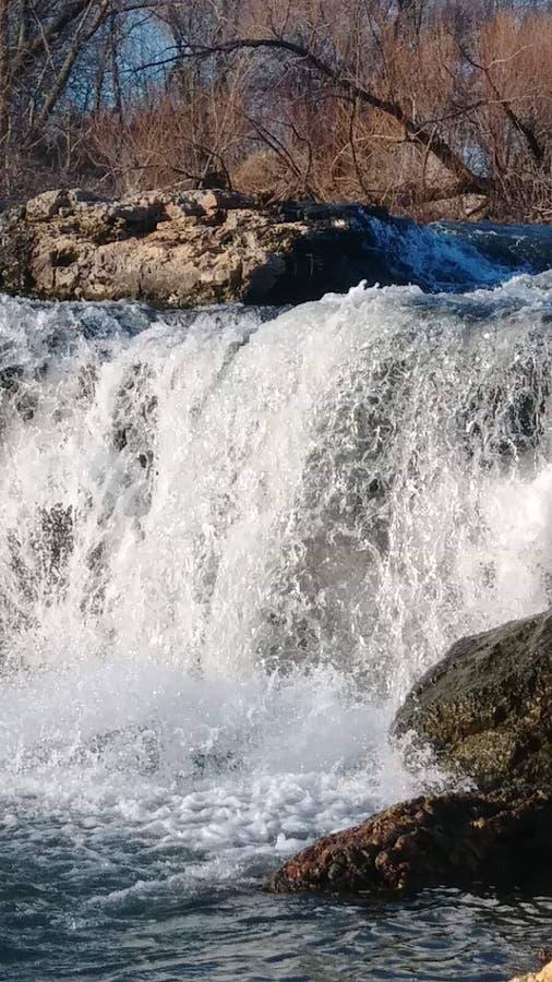 Joplin Missouri Christina Farino Waterfall en primavera imagen de archivo libre de regalías