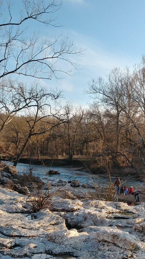 Joplin Missouri Christina Farino Waterfall en primavera imagen de archivo
