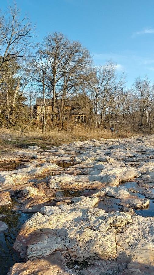 Joplin Missouri Christina Farino Waterfall en primavera fotografía de archivo