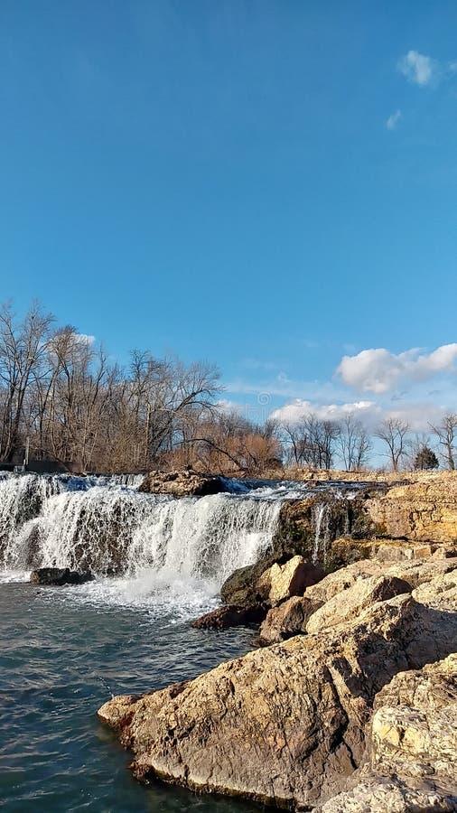 Joplin Missouri Christina Farino Waterfall en primavera imagenes de archivo