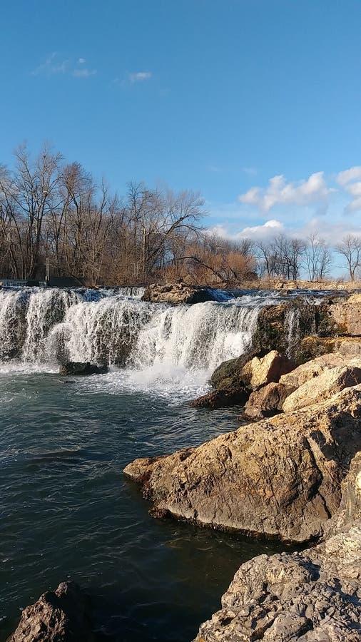Joplin Missouri Christina Farino Waterfall en primavera foto de archivo