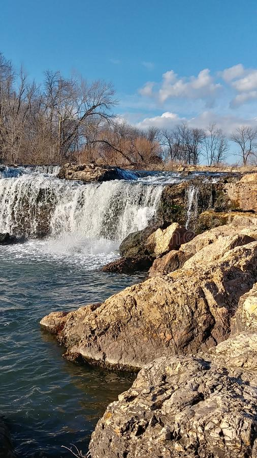 Joplin Missouri Christina Farino Waterfall en primavera fotos de archivo libres de regalías