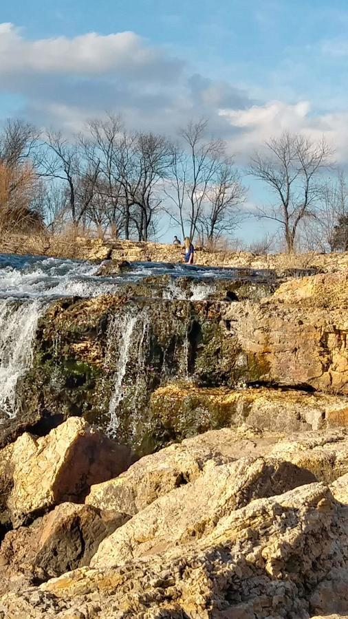 Joplin Missouri Christina Farino Waterfall in Spring stock image