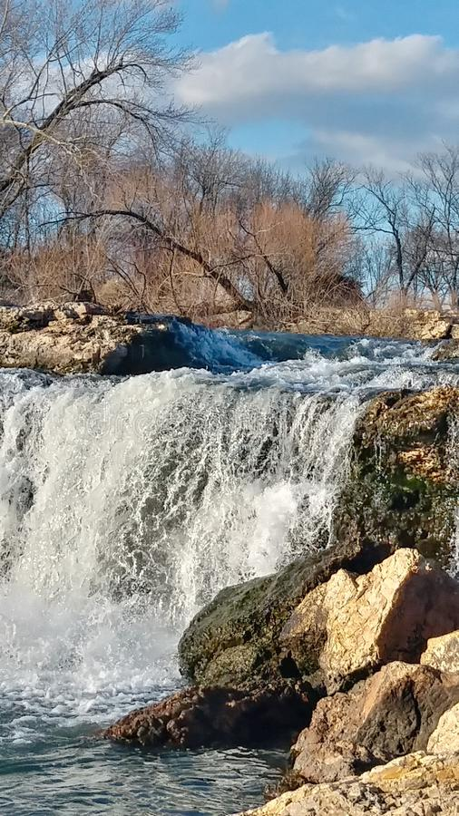 Joplin Missouri Christina Farino Waterfall in Spring stock photo