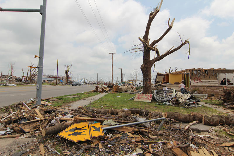 Joplin, MOIS, tornade des dommages EF5 photos libres de droits