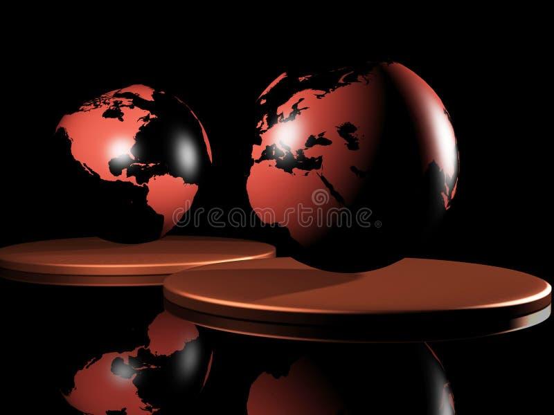 jord 3d royaltyfri illustrationer
