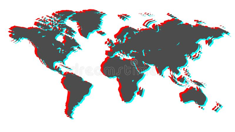 jord 3d bl? vektor f?r sky f?r oklarhetsbildregnb?ge vektor illustrationer