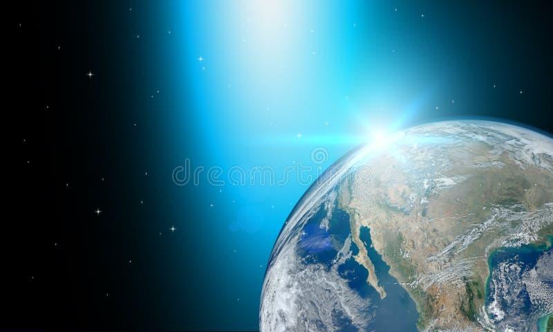 Jord- eller världsbeståndsdelar av denna bild möblerade vid NASA royaltyfri illustrationer