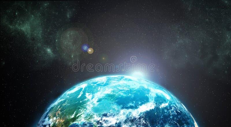 Jord från yttre rymd royaltyfri illustrationer