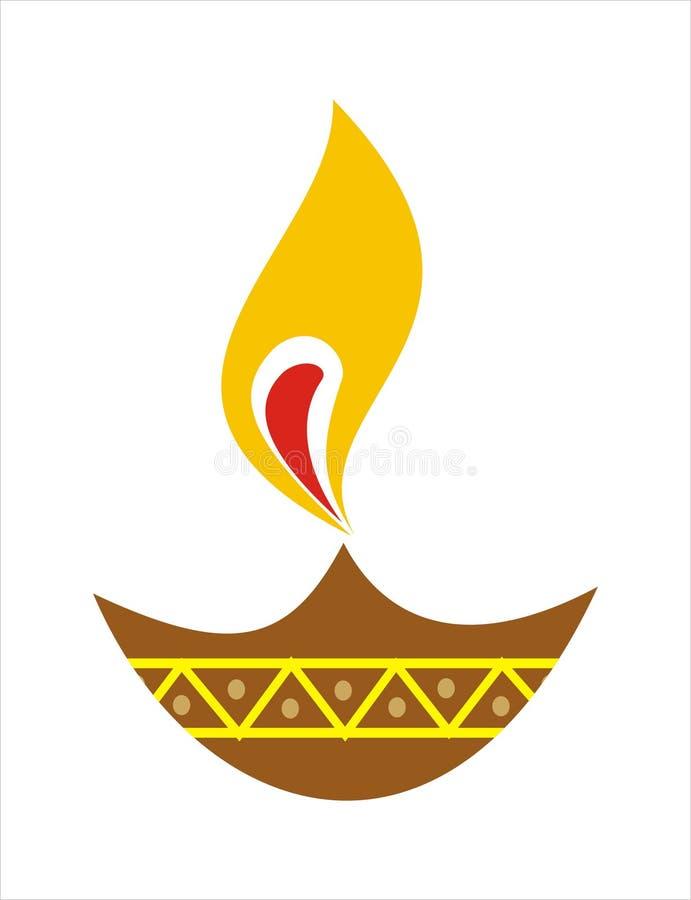 jord- lampa för diya royaltyfri illustrationer