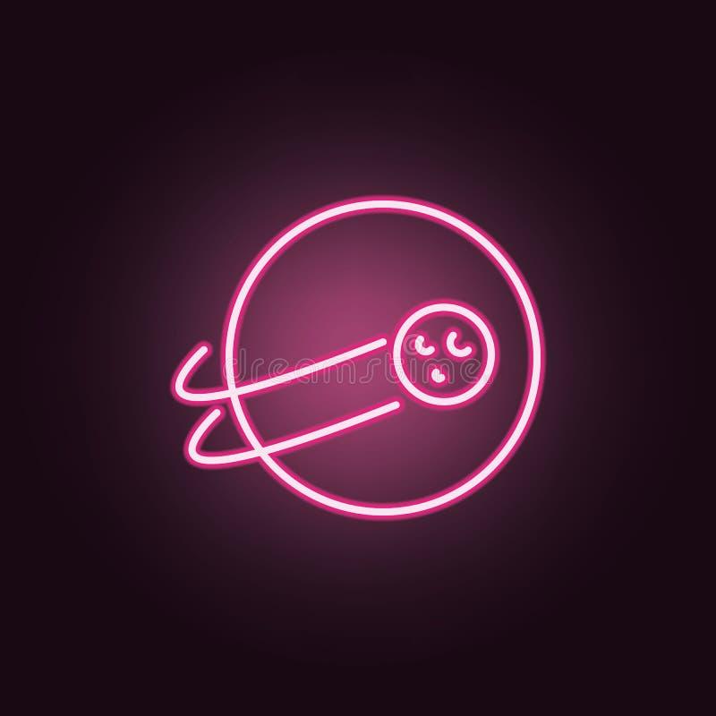 Jord- och måneneonsymbol Best?ndsdelar av utrymmeupps?ttningen Enkel symbol f?r websites, reng?ringsdukdesign, mobil app, informa vektor illustrationer