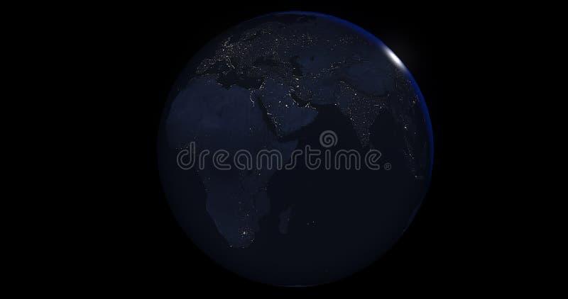 Jord på natten arkivbild