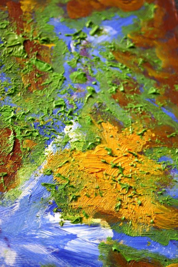 jord som oilpainting royaltyfri illustrationer