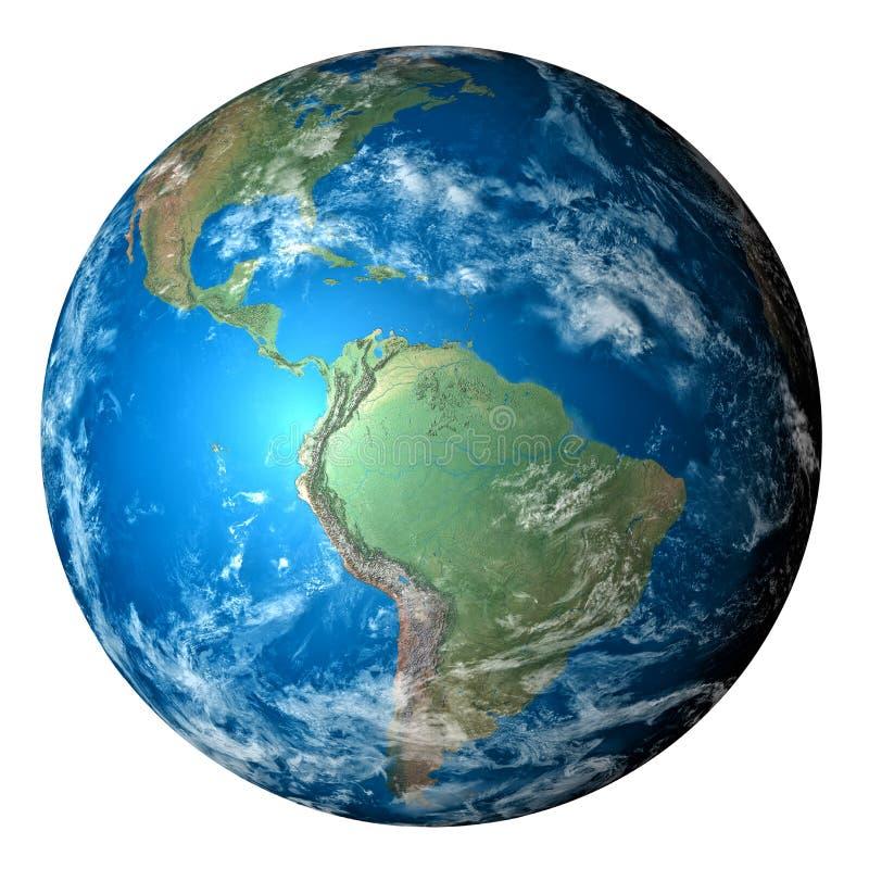 jorda en kontakt det realistiska planet royaltyfria bilder