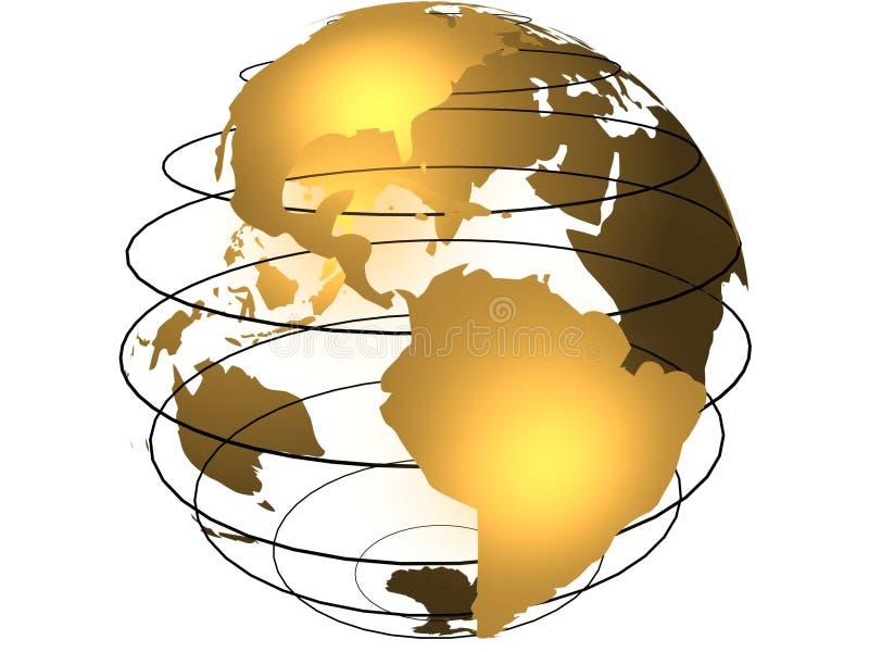 jorda en kontakt jordklotet vektor illustrationer