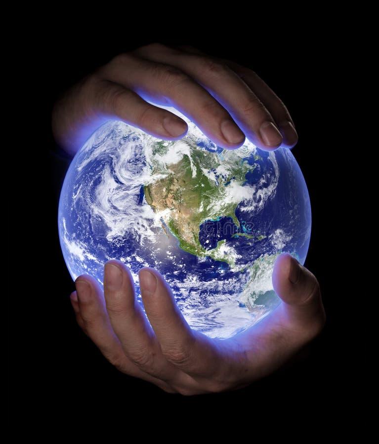 jorda en kontakt vårt planet arkivfoto