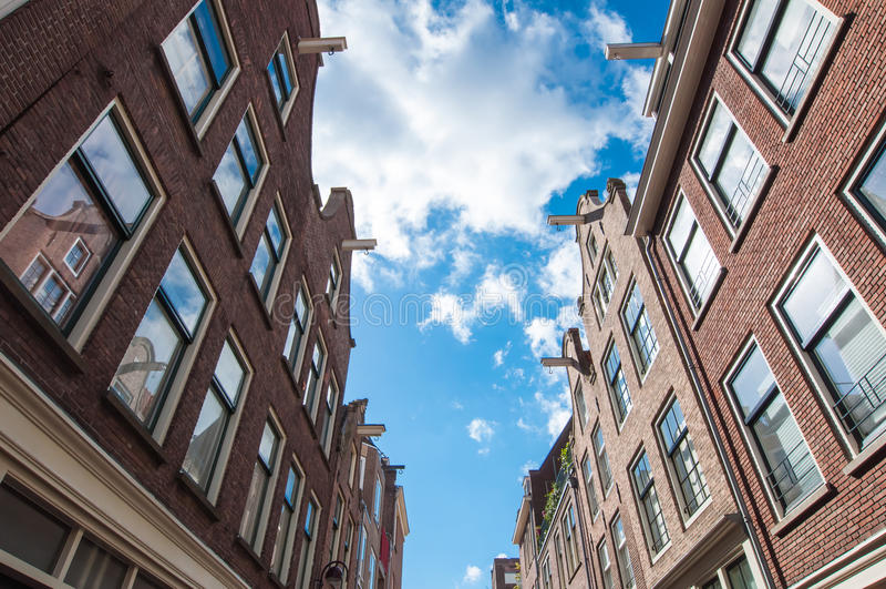 Jordaan neighbourhood architecture in Amsterdam-Centrum, the Netherlands. stock photo
