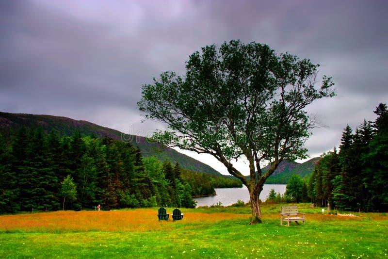 Jordan Acadia Parku Narodowego Staw Zdjęcia Stock
