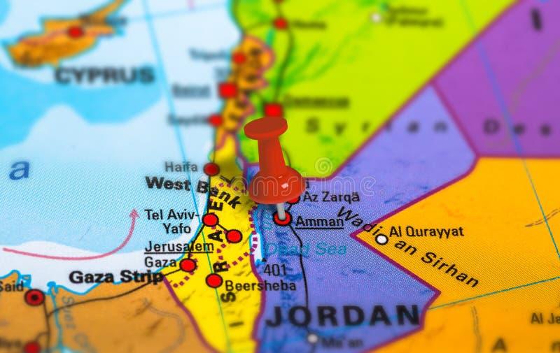 Jordan Amman-Karte stockbilder