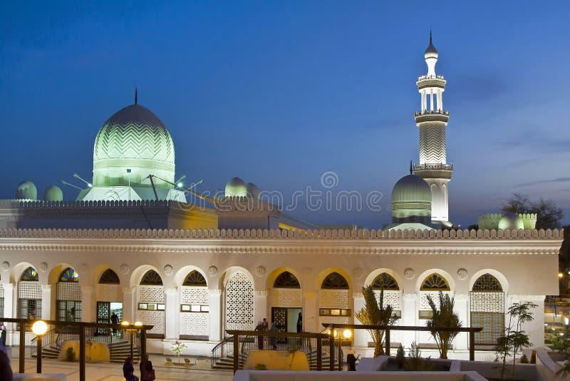 Jordan, Aqaba, the Sharif Al Hussein Bin Ali mosque at night royalty free stock photo