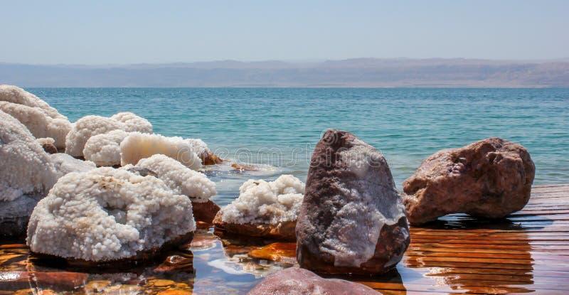 Jordan Dead Sea Salt Tourist Location. The Lowest Place On Earth, The Dead Sea Jordan Tourist Location stock image