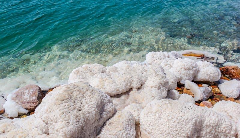 Jordan Dead Sea Salt Tourist Location. The Lowest Place On Earth, The Dead Sea Jordan Tourist Location royalty free stock photos