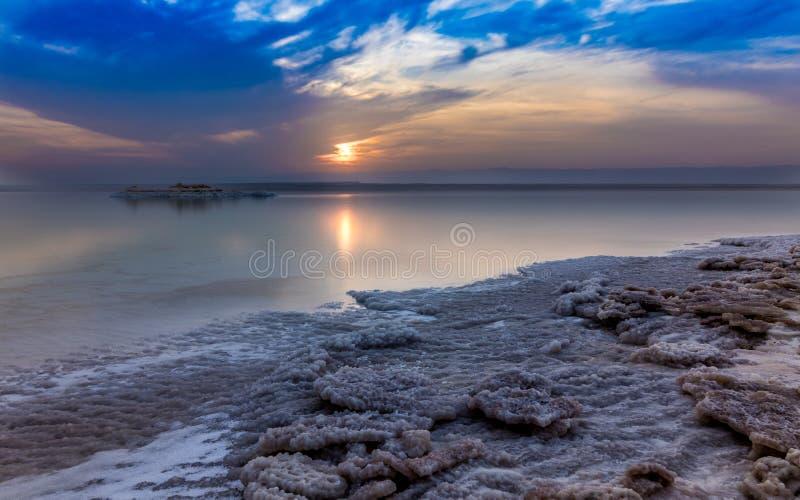 Jordan Dead Sea Salt Tourist Location. The Lowest Place On Earth, The Dead Sea Jordan Tourist Location stock photo