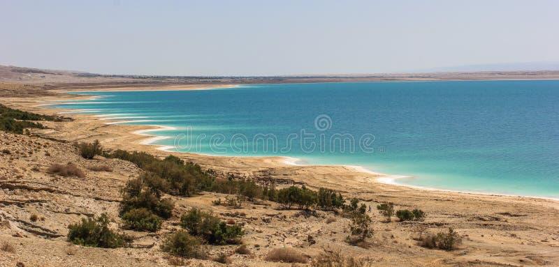 Jordan Dead Sea Salt Tourist Location. The Lowest Place On Earth, The Dead Sea Jordan Tourist Location royalty free stock images