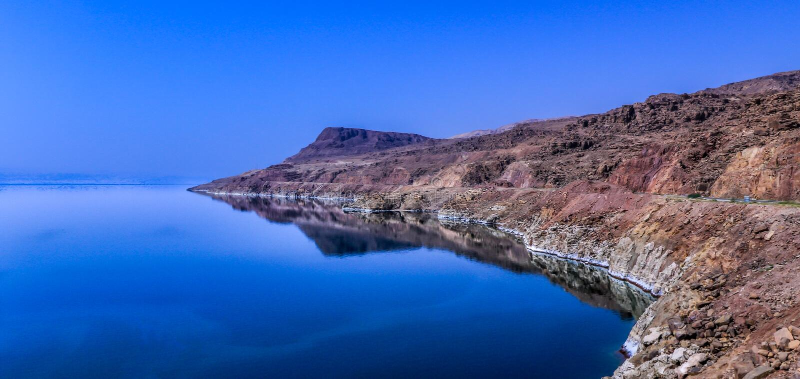 Jordan Dead Sea Salt Tourist Location. The Lowest Place On Earth, The Dead Sea Jordan Tourist Location stock photography
