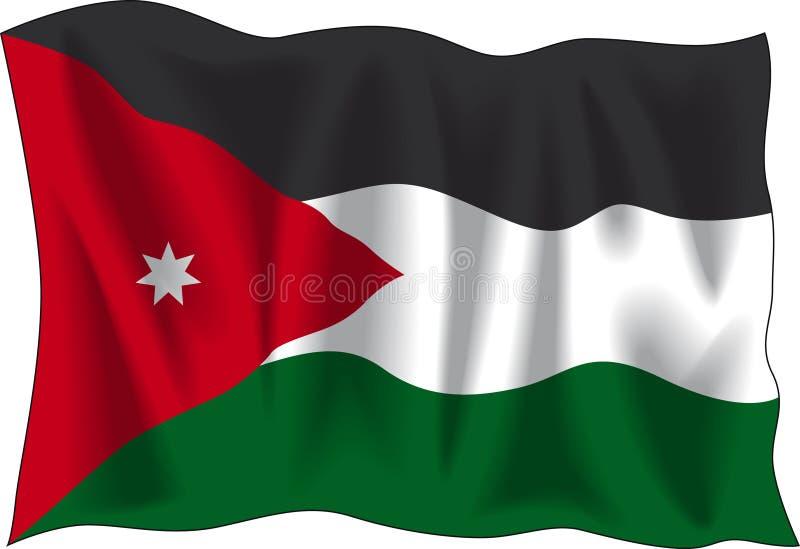 Jordan flag vector illustration