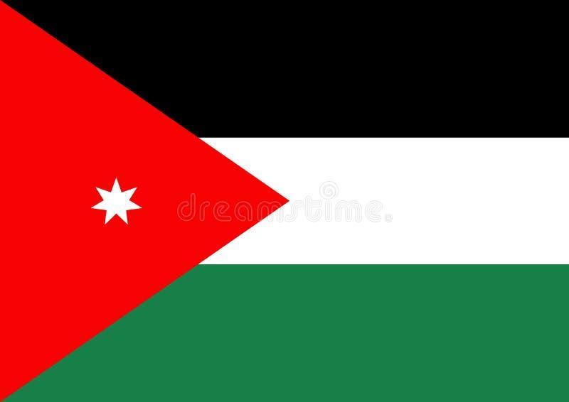 Jordan Flag. 2D illustration of a flat Jordan Flag vector illustration