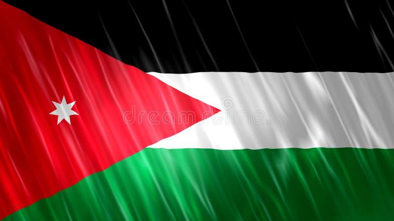 Jordan Flag. For Print, Wallpaper Purposes, Size : 7680  x 4320 Pixels, 300 dpi, Jpg Format royalty free illustration