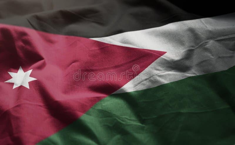 Jordan Flag Rumpled Close Up fotos de archivo