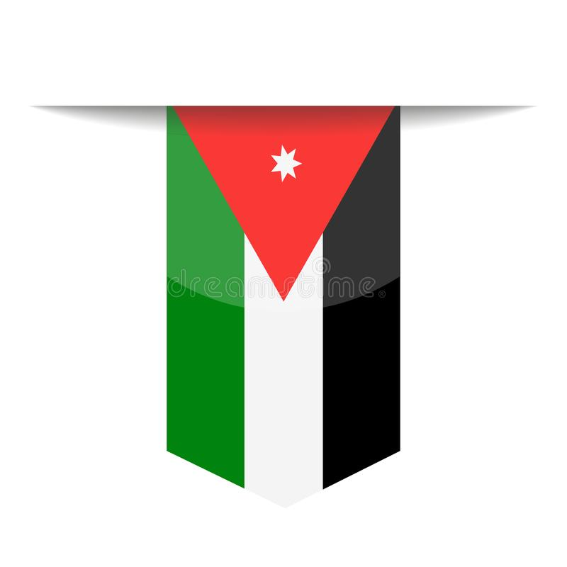 Jordan Flag Vector Bookmark Icon stock de ilustración