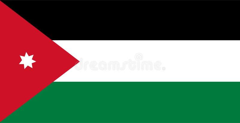 Jordan flag vector. Illustration of Jordan flag. Background vector illustration