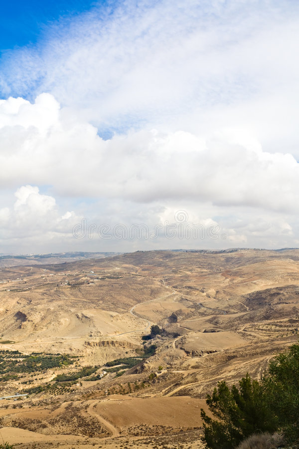 Jordan Góry Nebo Obrazy Stock