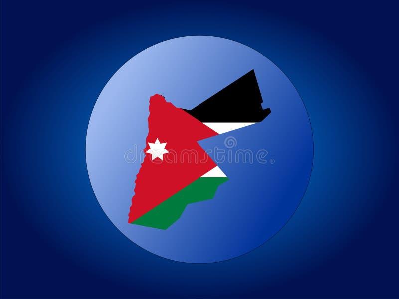Jordan globe. Map and flag of Jordan globe illustration stock illustration