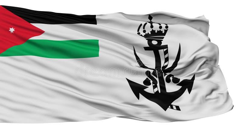 Jordan Naval Ensign Flag, op Wit wordt geïsoleerd dat vector illustratie