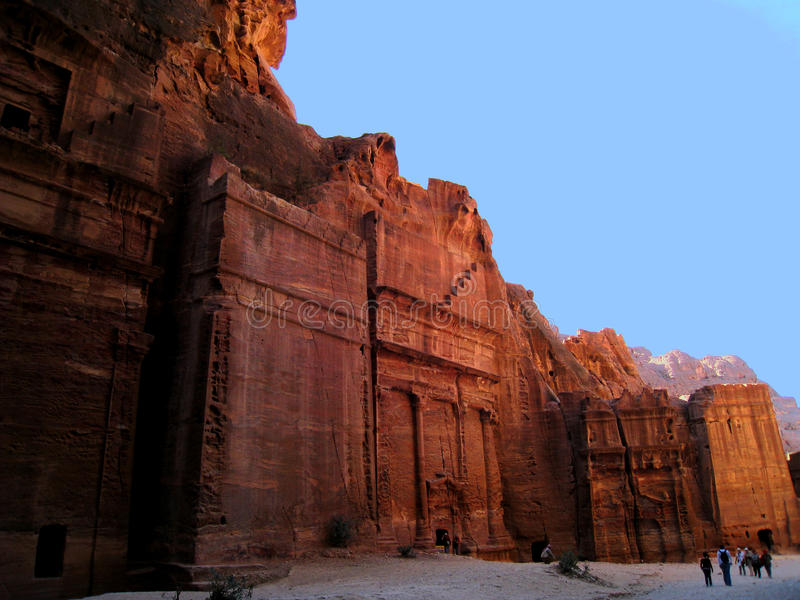 jordan petra grobowowie zdjęcia royalty free