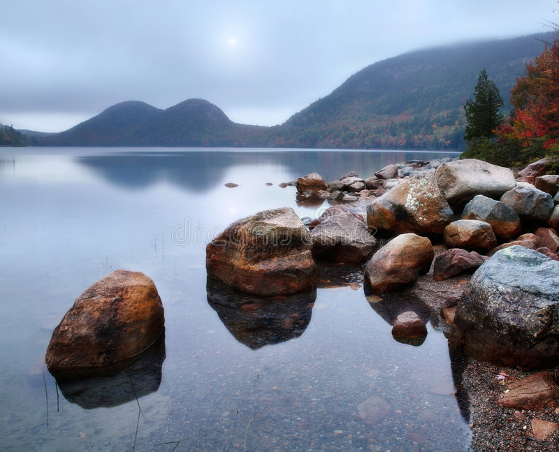Download Jordan Pond stock image. Image of pond, mount, mountains - 8120429