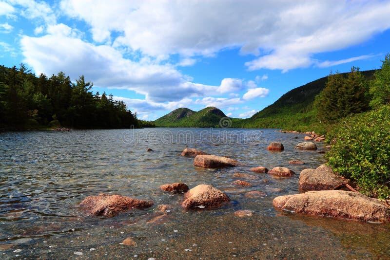 Jordan Pond Acadia National Park stockfotografie